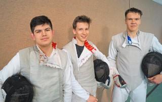 von links Leonard Vellmanns (JG 2003), Maurus Hegge (JG 2003) und Daniel Ott (JG 2001)
